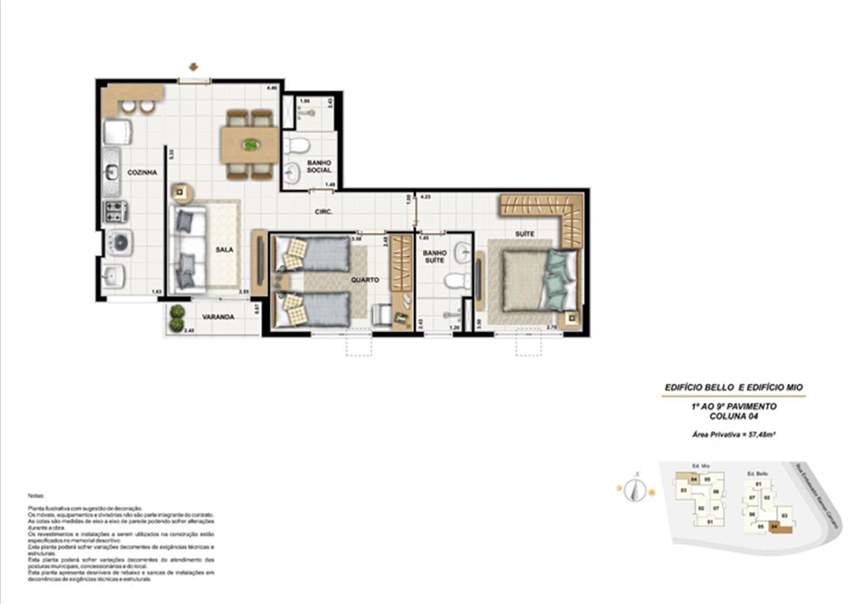 Ed. Bello e Mio 1º ao 9º Pavimento Coluna 4 | Adorabile Tijuca – Apartamento na  Tijuca - Rio de Janeiro - Rio de Janeiro
