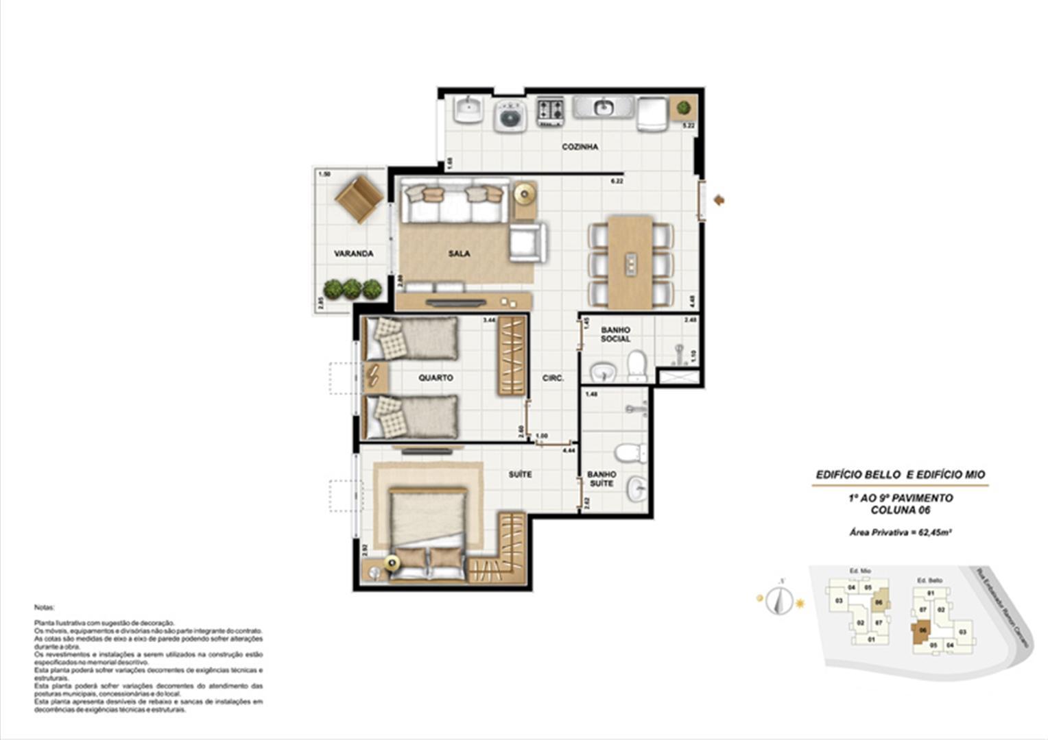 Ed. Bello e Mio 1º ao 9º Pavimento Coluna 6 | Adorabile Tijuca – Apartamento na  Tijuca - Rio de Janeiro - Rio de Janeiro