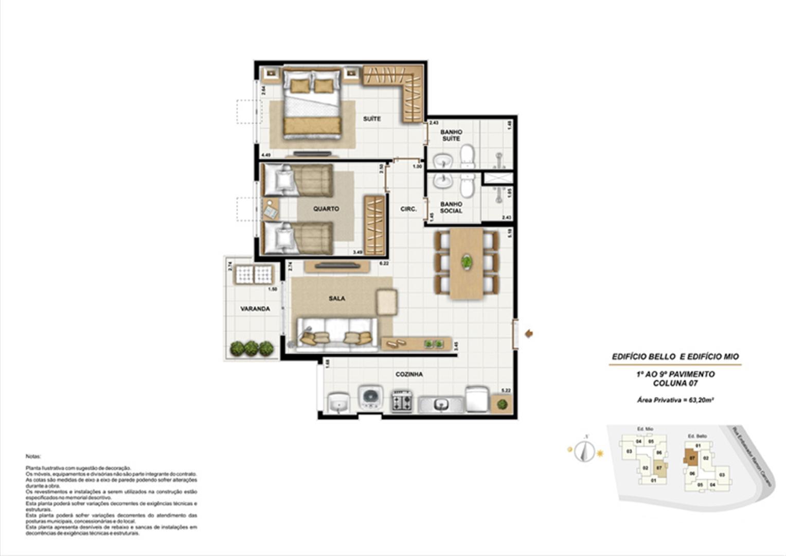 Ed. Bello e Mio 1º ao 9º Pavimento Coluna 7 | Adorabile Tijuca – Apartamento na  Tijuca - Rio de Janeiro - Rio de Janeiro