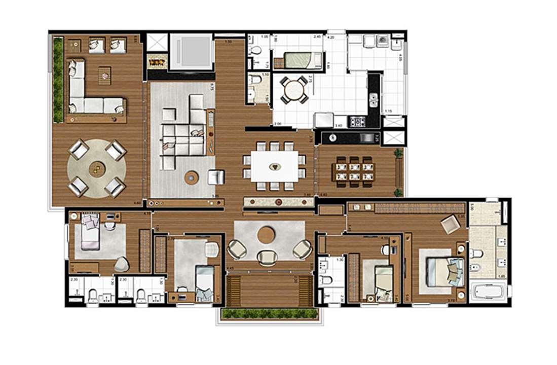 Apartamento Tipo 275m², 4 suítes, 4 vagas | Artisan Campo Belo – Apartamentono  Campo Belo - São Paulo - São Paulo