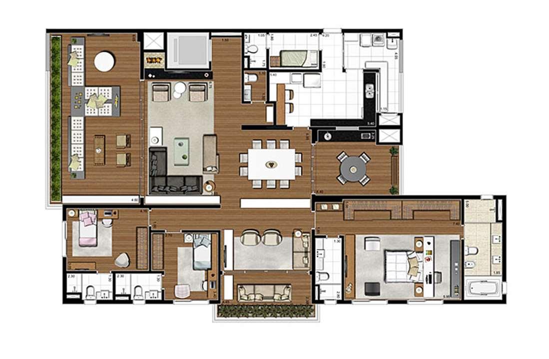 Apartamento Tipo 275m², opção 3 suíte, com suíte master ampliada, 4 vagas | Artisan Campo Belo – Apartamentono  Campo Belo - São Paulo - São Paulo