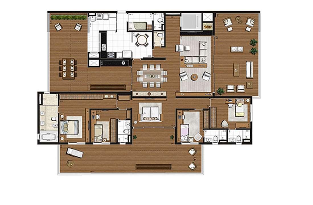 Apartamento com varanda 375m², 4 suítes, 4 vagas | Artisan Campo Belo – Apartamentono  Campo Belo - São Paulo - São Paulo