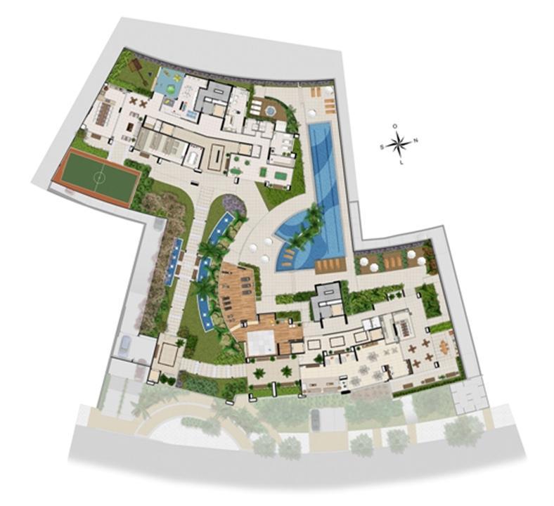 Implantação lazer | Chateau Marista LifeStyle – Apartamentono  Setor Marista - Goiânia - Goiás