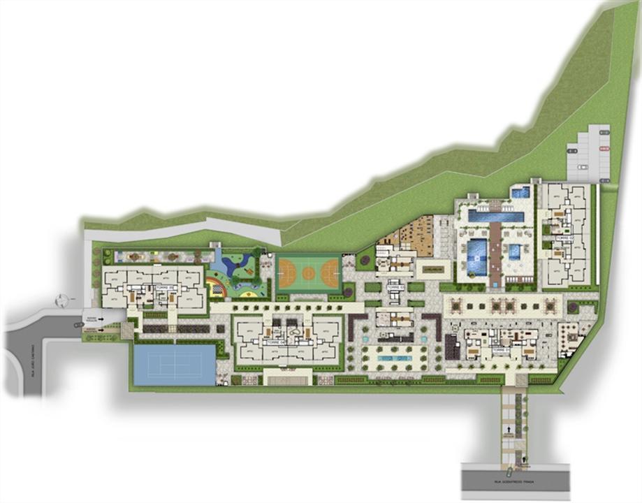 Implantação | Way Orquidário – Apartamentono  Orquidário - Santos - São Paulo