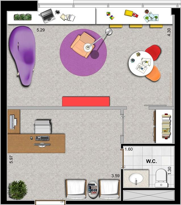 Consultório Psicologia | Duo Concept Office  – Salas Comerciaisna  Cidade Baixa - Porto Alegre - Rio Grande do Sul