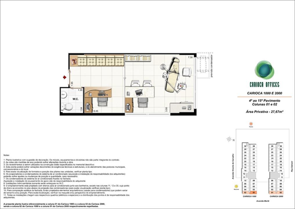 Carioca 1000 e 2000 - Colunas 01 e 02 - 4º ao 15º Pavimento | Carioca Offices – Salas Comerciaisna  Vila da Penha - Rio de Janeiro - Rio de Janeiro