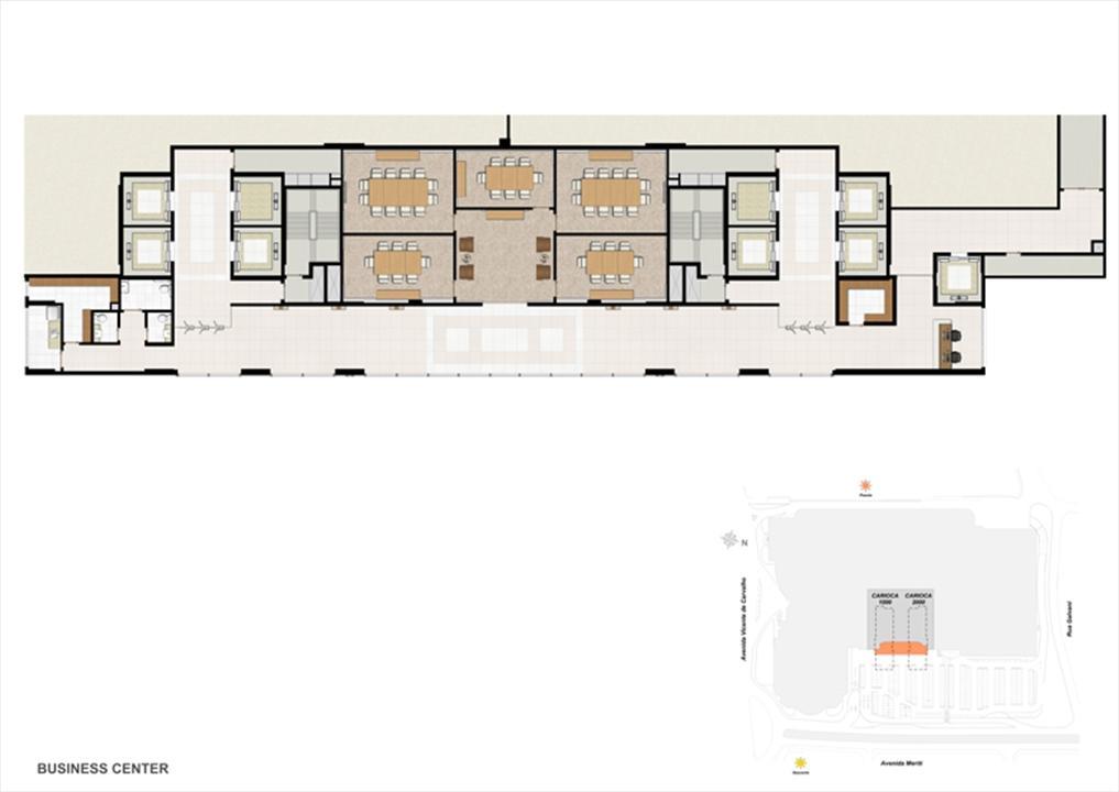 Masterplan Pavimento Business center | Carioca Offices – Salas Comerciaisna  Vila da Penha - Rio de Janeiro - Rio de Janeiro