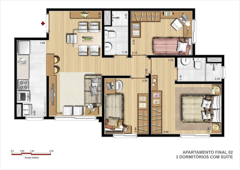 | Terrabela Planalto – Apartamento  Próximo ao Iguatemi - Porto Alegre - Rio Grande do Sul