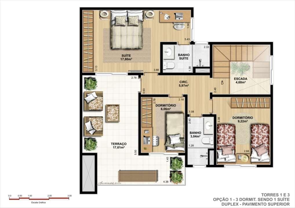 Duplex Superior - Opção A | Ideale Residencial – Apartamentono  Santa Quitéria - Curitiba - Paraná