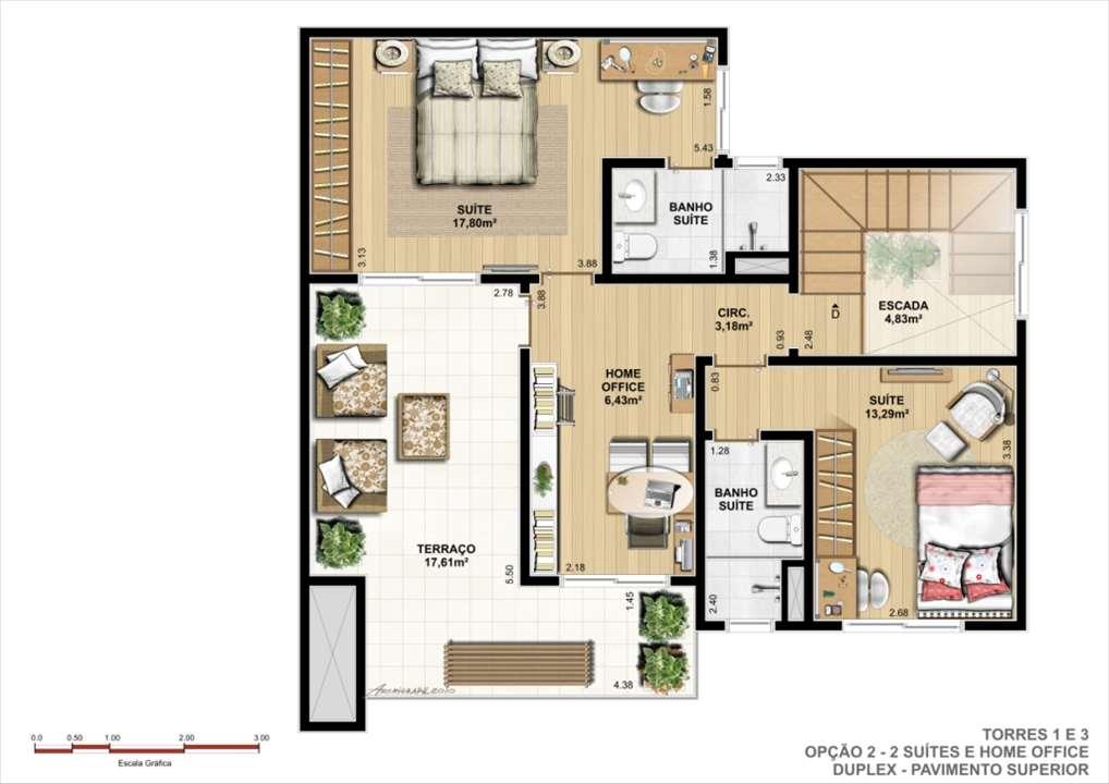 Duplex Superior - Opção B | Ideale Residencial – Apartamentono  Santa Quitéria - Curitiba - Paraná