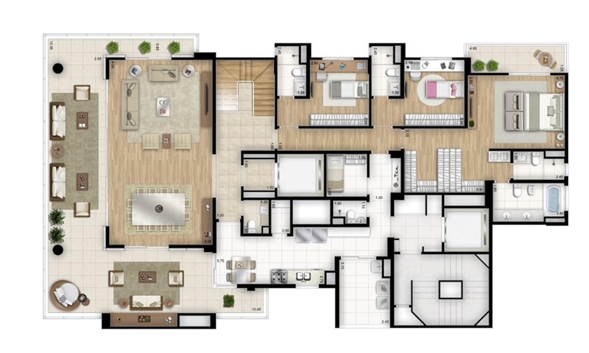 Cobertura duplex inferior - Torre Nero | Cyrela Essenza Moema – Apartamentoem  Moema - São Paulo - São Paulo