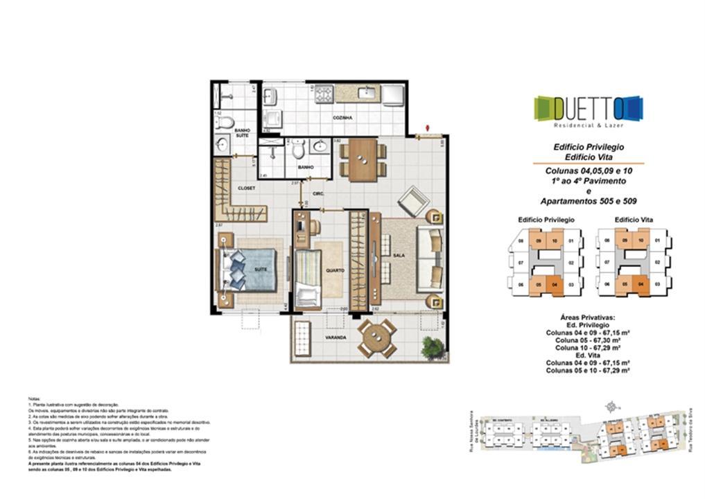2 Quartos com suíte - 67m² | Duetto Residencial & Lazer – Apartamentono  Grajaú - Rio de Janeiro - Rio de Janeiro