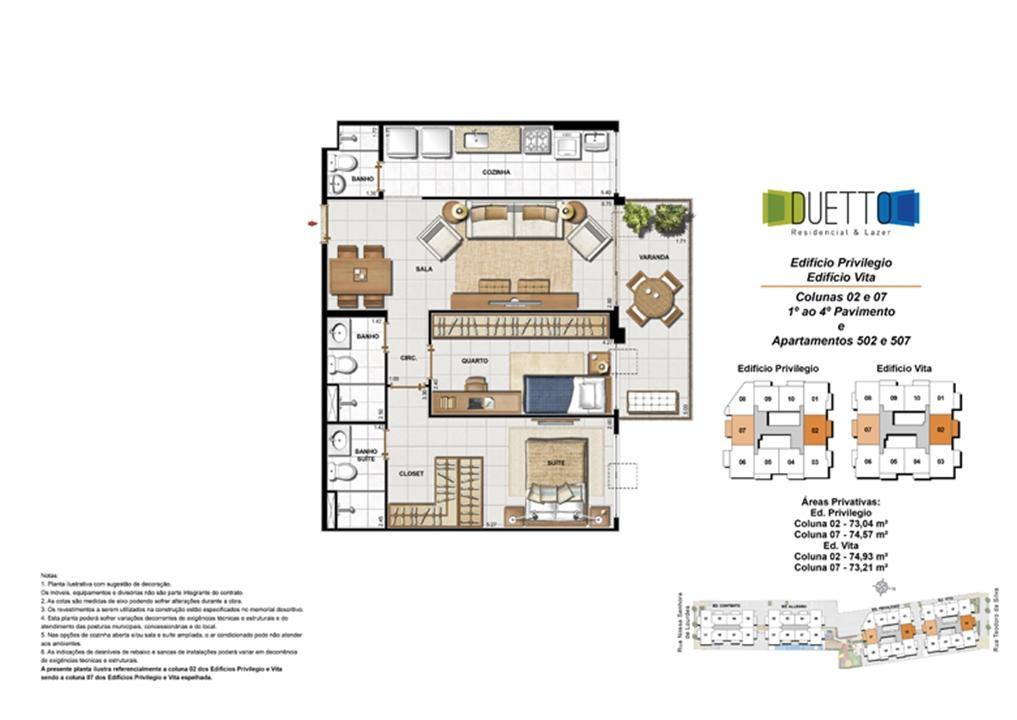 2 Quartos com suíte - 73 a 74m² | Duetto Residencial & Lazer – Apartamentono  Grajaú - Rio de Janeiro - Rio de Janeiro
