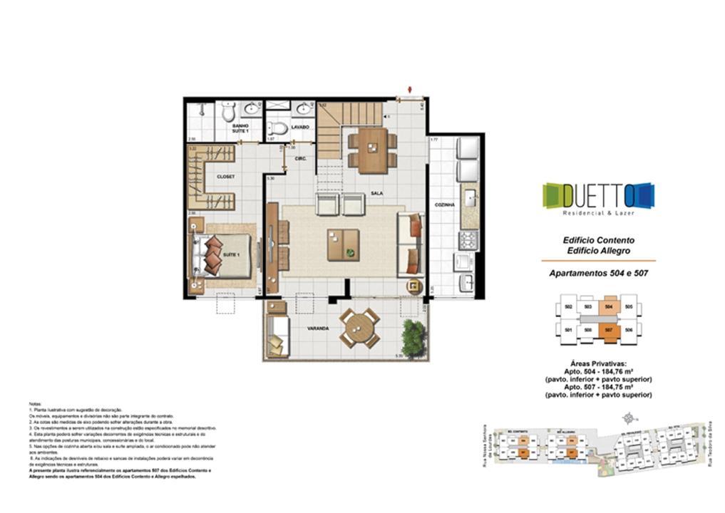 Cobertura Duplex - 2 Quartos com suíte - 184m² - pavto Inferior + pavto superior | Duetto Residencial & Lazer – Apartamentono  Grajaú - Rio de Janeiro - Rio de Janeiro