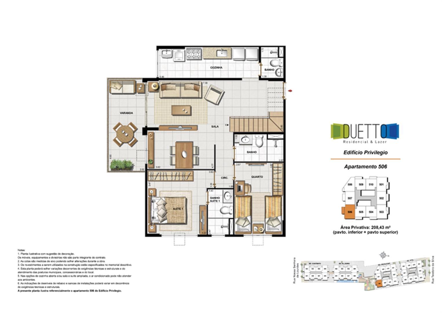 Cobertura Duplex - 3 Quartos com suíte - 208,43m² - pavto inferior+ pavto superior (2) | Duetto Residencial & Lazer – Apartamento no  Grajaú - Rio de Janeiro - Rio de Janeiro