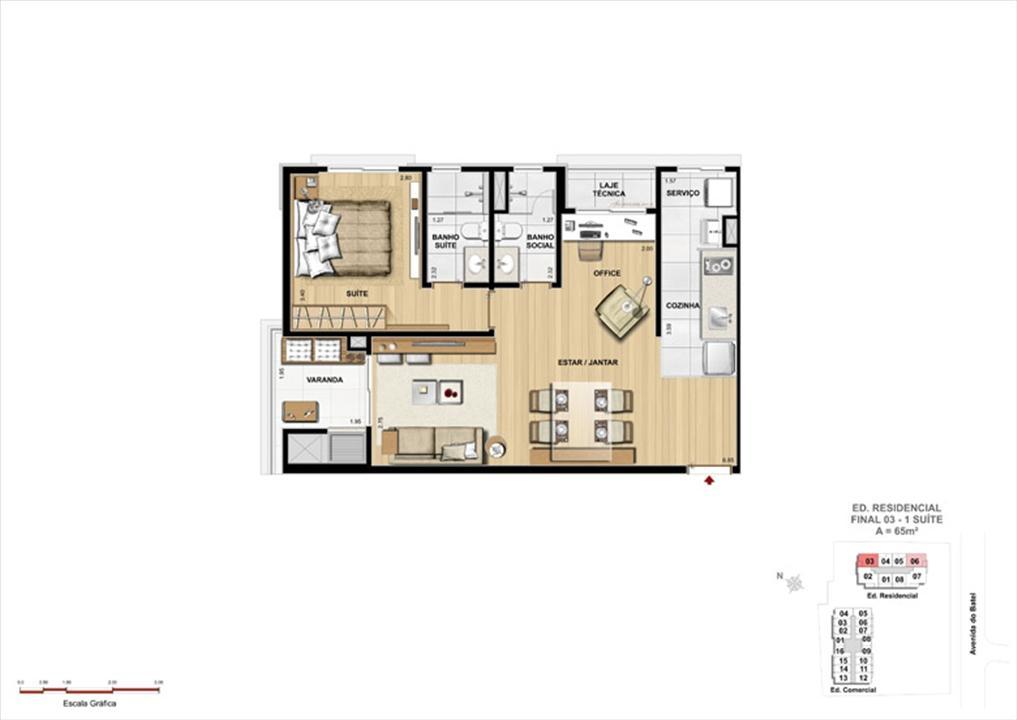 Apartamento 1 Suíte | 1550 Batel (Home Batel) – Apartamentono  Batel - Curitiba - Paraná