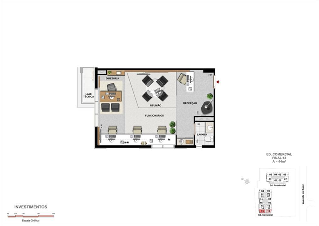 Modelo de Escritório de Investimentos | 1550 Batel Comercial (Work Batel) – Salas Comerciaisno  Batel - Curitiba - Paraná