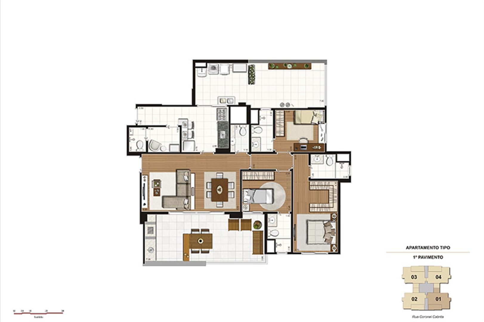 Apto. Varanda – 138m² - 3 suítes, terraço de serviço ampliado | Gioia – Apartamento na  Aclimação - São Paulo - São Paulo
