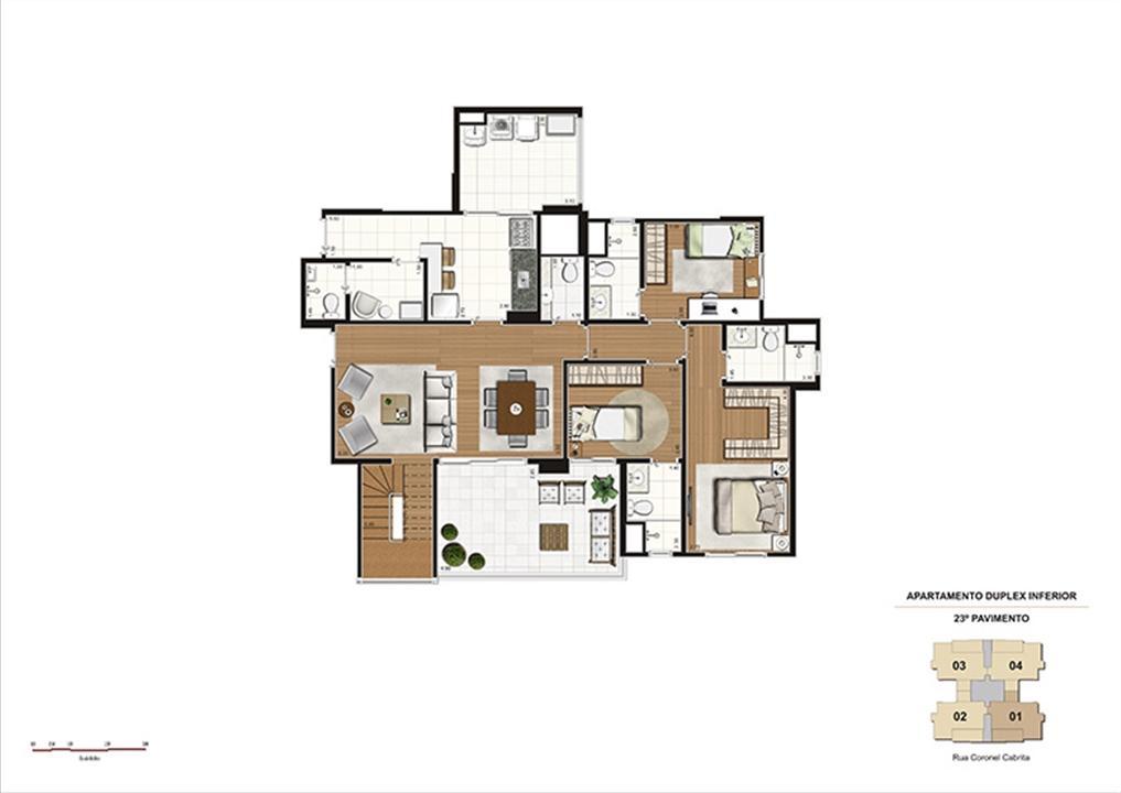 Duplex Inferior – 215m² - 3 suítes | Gioia – Apartamentona  Aclimação - São Paulo - São Paulo