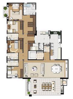 Planta tipo   227 m² | Cristall Aclimação – Apartamento na  Aclimação - São Paulo - São Paulo