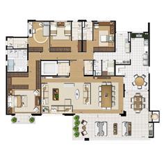 Planta tipo   275 m² | Cristall Aclimação – Apartamento na  Aclimação - São Paulo - São Paulo