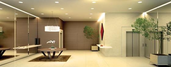 Perspectiva Ilustrada do Lobby do Apartamento Néroli