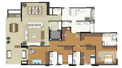 Planta-tipo - 4 dormitórios (2 suítes) - 207m² privativos (Néroli one floor) | Essência Alphaville – Apartamento em  Alphaville - Barueri - São Paulo