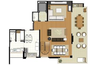 Planta-tipo - 3 suítes - 220m² privativos - Piso Inferior (Verbera Double Floor) | Essência Alphaville – Apartamento em  Alphaville - Barueri - São Paulo