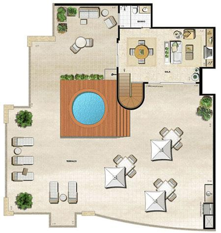 Cobertura Ed. Ambience   pav | Atmosfera Península – Apartamento na  Barra da Tijuca - Rio de Janeiro - Rio de Janeiro