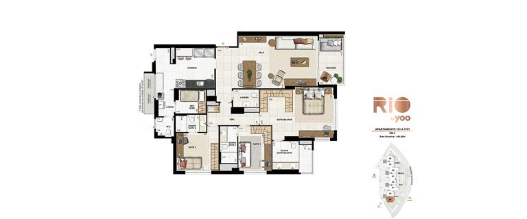 Apartamentos 101 a 1701 - Hill