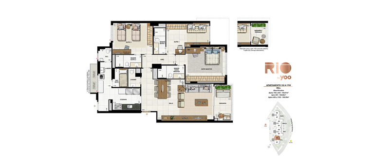 Apartamentos 102 a 1702 - Hill