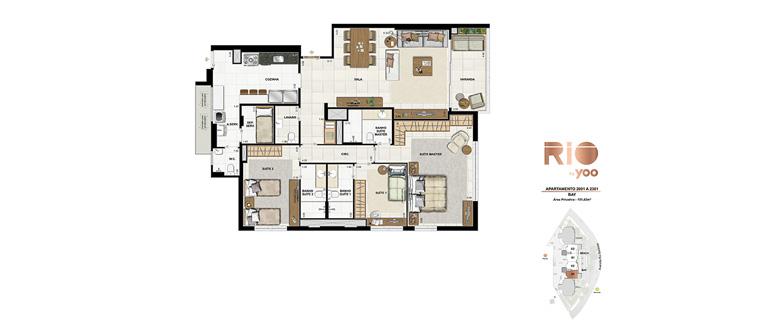 Apartamentos 2001 a 2301 - Bay
