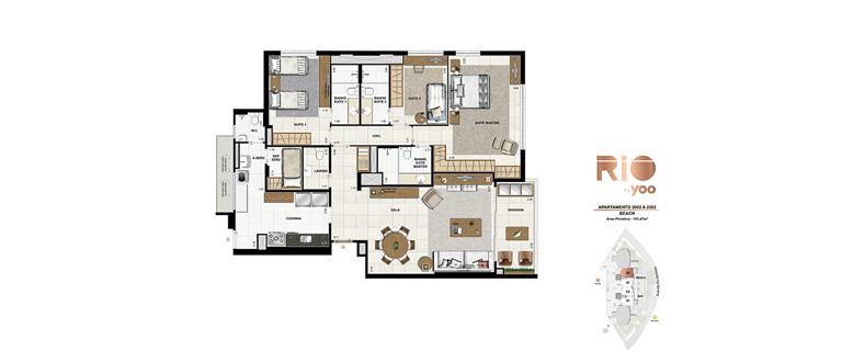 Apartamentos 2002 a 2302 - Beach