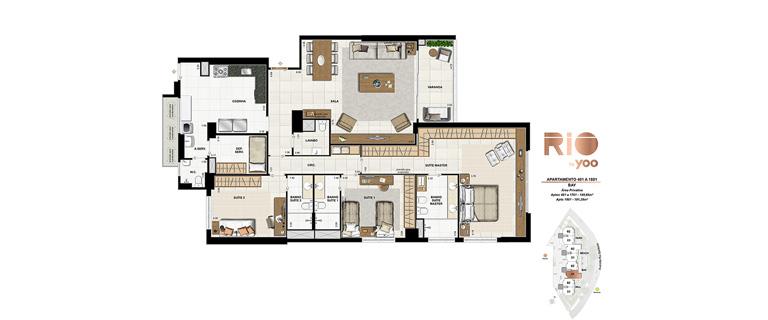 Apartamentos 401 a 1801 - Bay