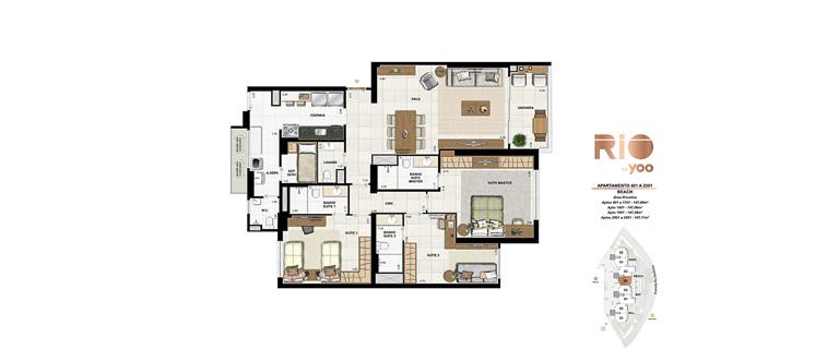 Apartamentos 401 a 2301 - Beach