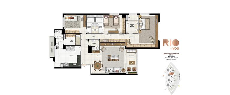 Apartamentos 402 a 1802 - Beach