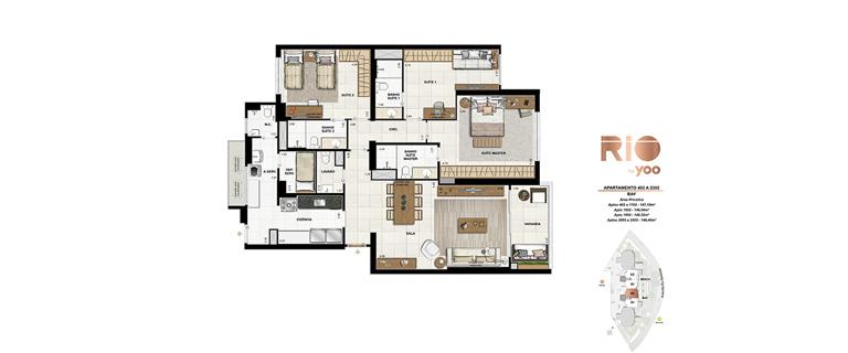 Apartamentos 402 a 2302 - Bay