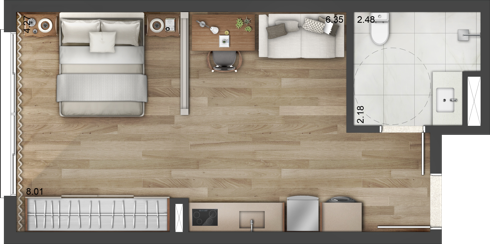 Care apartaments de 42m² Vintage Senior Residence