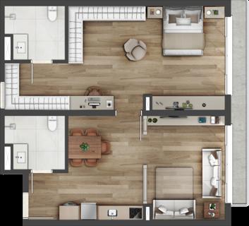 Care apartaments de 85m² Vintage Senior Residence