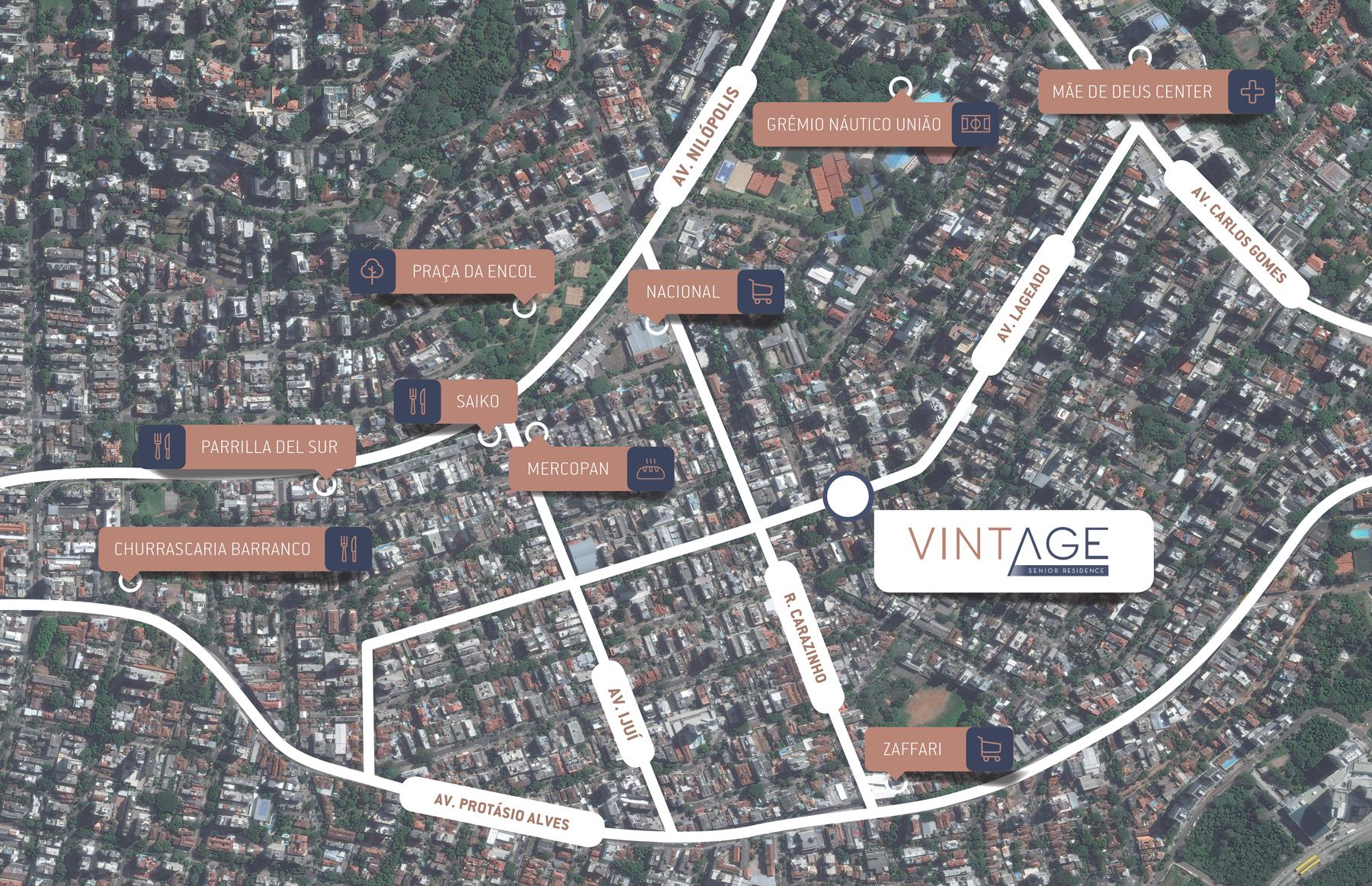 Mapa Vintage Senior Residence